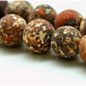 Бусина агат древесный, коричневый, 12 мм...