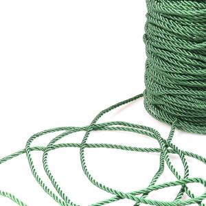 Витой полиэстеровый шнур, зеленый, 3,5 мм...