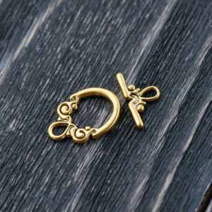 Застежка - тоггл, античное золото, 20x14 мм...