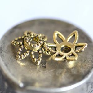 Чашечка (шапочка) для бусин, античное золото, 10х9х3 мм...