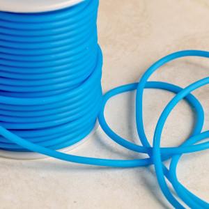 Шнур резиновый, с отверстием, цвет темный голубой, диам...