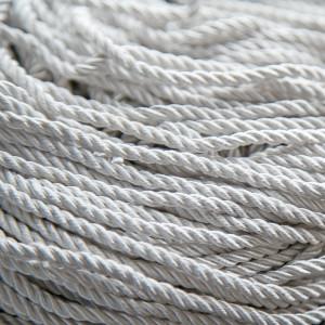 Шнур витой из полиэстера, цвет белый, 3,5 мм...