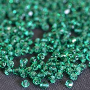 Бусина биконус стеклянная, бирюзовый, 4 мм (уп 30шт)...