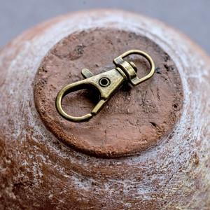 Карабин, платина, для брелоков, сумок, 75х29 мм...