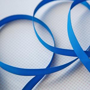 Репсовая лента, ярко-синий, ширина 9,5 мм...