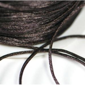 Атласный шнур для кумихимо, темно-коричневый, 1 мм (4 м...