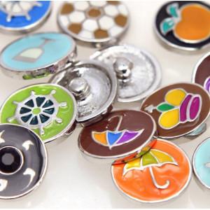 НС кнопка, металл, цветовой микс,  20 мм...