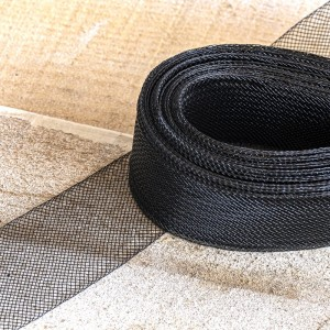 Ювелирная сетка плоская, черный, 30 мм...