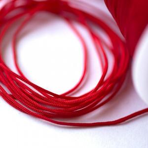 Шнур полиэстровый, красный 1 мм...