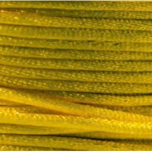 Атласный шнур для кумихимо, желтый, 1 мм (4 м)...