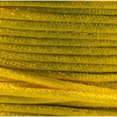 Атласный шнур для кумихимо, желтый, 1 мм (4 м)