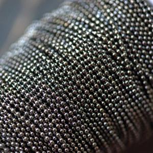 Цепочка для бижутерии,черный, шарик 1,5 мм...