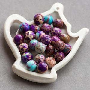 Бусина варисцит 10, цвет сиренево-фиолетовый, колорир.,...