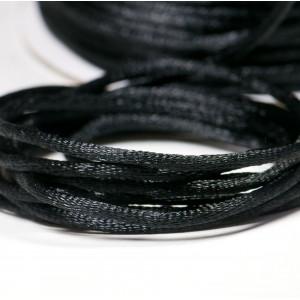 Атласный шнур для кумихимо, черный, 2 мм...