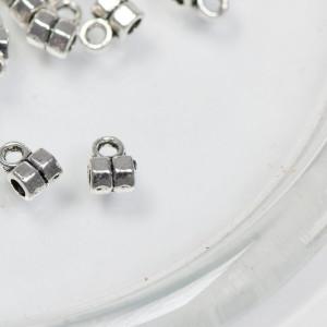 Бейл шестигранный, античное серебро, 6.5x5x3.5 мм (уп 2...