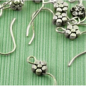 Швензы (основы для сережек), античное серебро, 18х18х3 ...