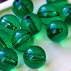 Бусина акриловая круглая, зеленый, 20 мм...