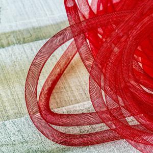 Ювелирная сетка, красный, 10 мм...