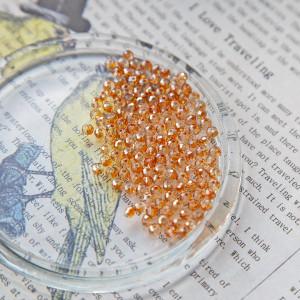 Бусина абакус стеклянная граненая, оранжевый, 4х3 мм (у...