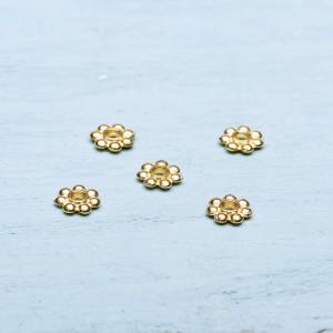 Разделитель-рондель для бусин, золото, 6х1,5 мм  (30 шт...
