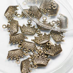 Подвеска металлическая в виде короны, античная бронза, ...