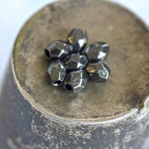 Разделитель для бусин, черный, 4х3.5 мм (50 шт)...
