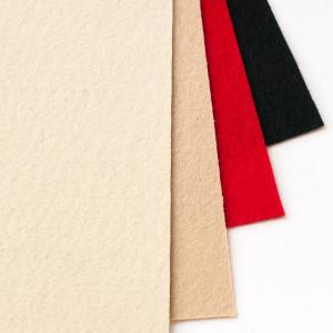 Набор фетра 4 больших листа бежевый, черный, красный...