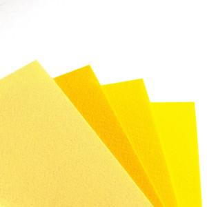 Набор фетра 4 больших листа в оттенках желтого...