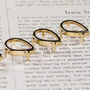 Цапы каплевидные, открытые, цвет золото, 25х18 мм...