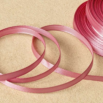 Атласная лента, розовый, ширина 6 мм
