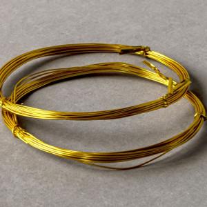 Проволока алюминиевая, цвет золотой, 0,8 мм...