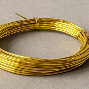 Проволока алюминиевая, цвет золотой, 2 мм, 5 м...