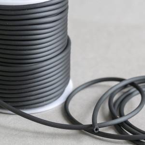 Шнур резиновый, с отверстием, цвет черный, диаметр 3 мм...