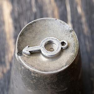 Подвеска металлическая, античное серебро, 18x9x1,5 мм...