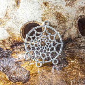 Коннектор -подвеска 1-3 отв, античное серебро, 34x28x2 ...