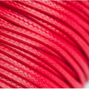 Шнур вощеный синт., красный, 2 мм...