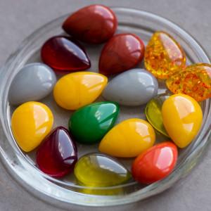 Кабошон из смолы, имитация мармелада, разные цвета, 25x...