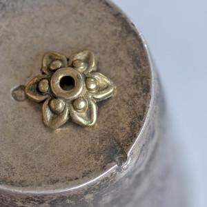 Чашечка (шапочка) для бусин, античная бронза, 10x3,5 мм...