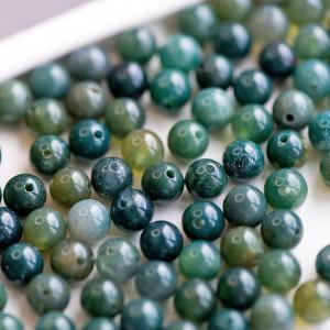 Граненые бусины агата, цвет приглушенно-зеленый, окраше...