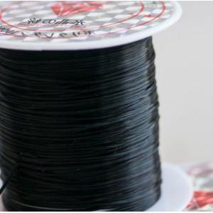 Эластичная резинка для браслета (спандекс), черный, тол...