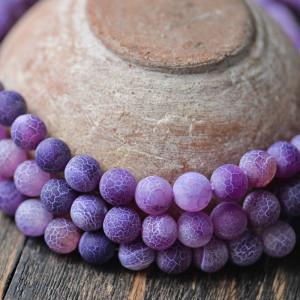 Бусины агата, цвет фиолетовый, окрашен., 10 мм...