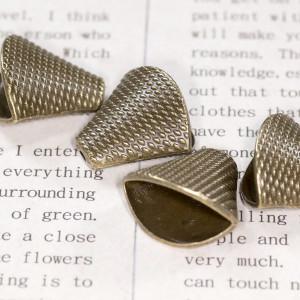 Колпачок для бусин, античная бронза, 18,5x20x11,5 мм...