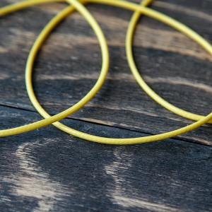 Плоский вощеный шнур синт., цвет желтый, 2 мм...