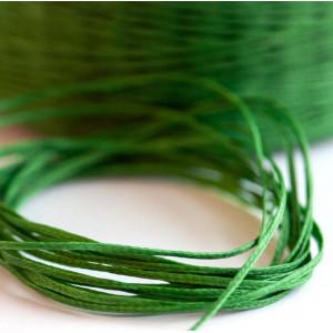 Плоский вощеный шнур синт., цвет зеленый, 1х0,4 мм...