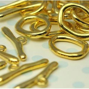 Застежка - тоггл, золото, 16x21 мм...