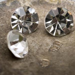 Стразы стеклянные ювелирные, цвет прозрачный, 4,6 мм (уп 10 шт)