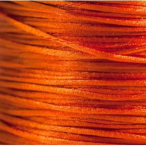 Атласный шнур для кумихимо, оранжево-красный, 1 мм (4 м...