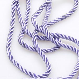 Витой полиэстеровый шнур, лавандовый, 3,5 мм...