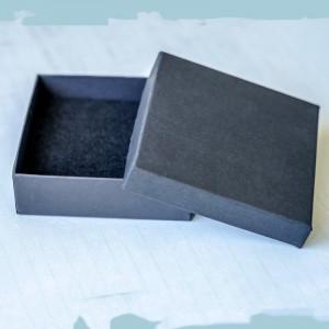 Коробочка для браслета, картон, черный, 91х91х29 мм...