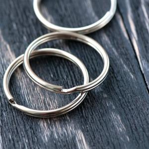 Замок-кольцо для карабина брелока, платина, 30х3 мм...